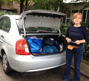 Astrid Fiedler hilft Flüchtlingen