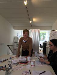 Astrid Fiedler im Unternehmerinnen Netzwerk Bergedorf